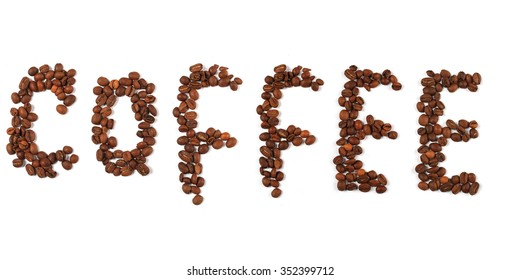 the word coffee from roasted beans