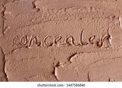 "Word ""concealer"" drawn on palette"