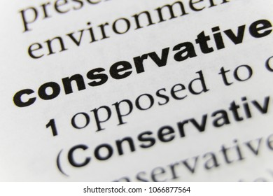 The Word Conservative Close Up