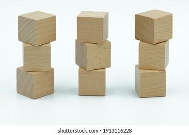 word cube building blocks .text design