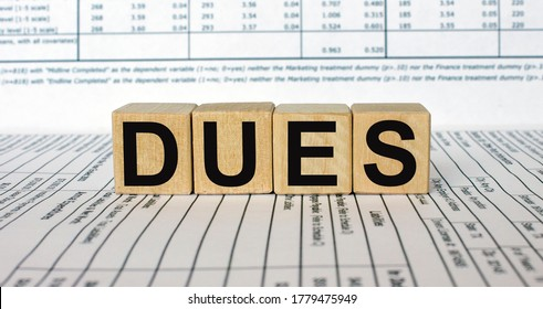 Word Dues made with wood building blocks