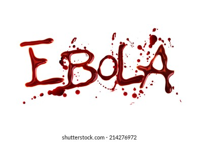 Word Ebola isolated over white background