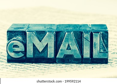 """the word """"e-mail"""" in lead letters written. symbolic photo for quick correspondence"""