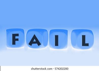 word Fail on cubes