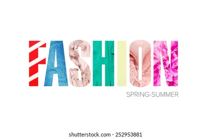 """word """"fashion"""" - a concept fabric texture"""