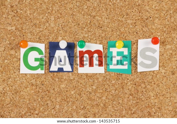 notice games letter board