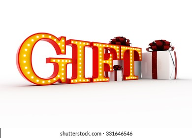Gift word broadway style light bulb stock illustration 332911796 word gift broadway style light bulb alphabet 3d rendering negle Images