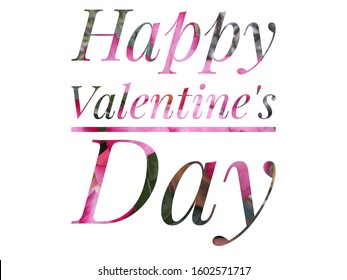 """The word """"Happy Valentine'sDay"""" Concept for Valentine's card"""
