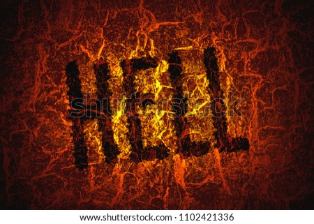 Word Hell On Background Abstract Texture Stock Photo Edit Now