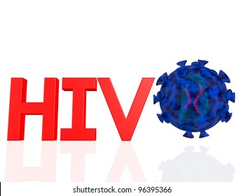 the word HIV with the virus next to it ,inside the viral envelope is the capsid with tow copies of RNA strands.