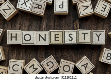 the word of HONESTY on building blocks concept