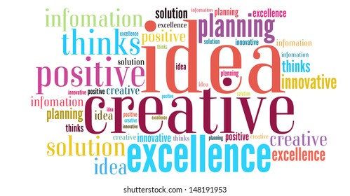 Word of idea in cloud style