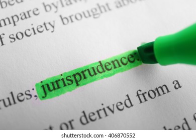 Word Jurisprudence highlighted with a green marker