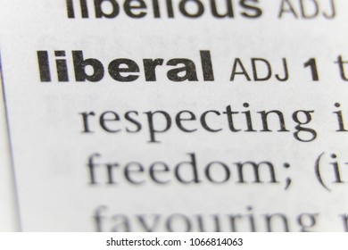 The Word Liberal Close Up
