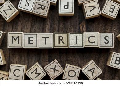 the word of METRICS on building blocks concept