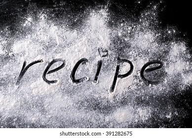 word on the recipe flour