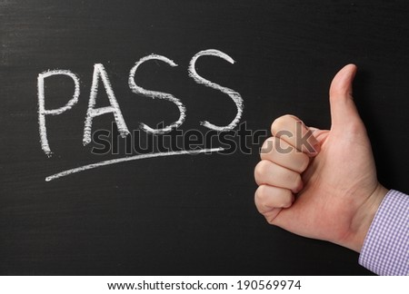 Word Pass Written On Blackboard Male Stock Photo Edit Now
