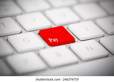 """The word """"PAY"""" written on keyboard"""