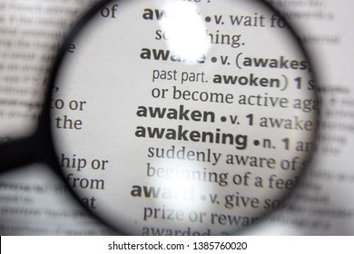 The word of phrase - awaken and awakening - in a dictionary.