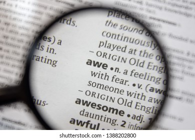 The word of phrase awe in a dictionary.
