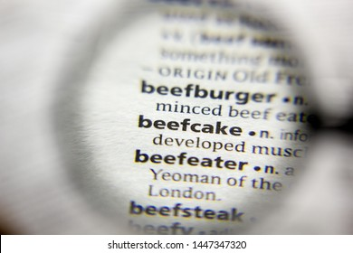 The word or phrase Beefcake in a dictionary