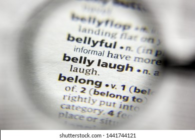 The word or phrase belly laugh in a dictionary