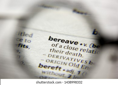 The word or phrase Bereave in a dictionary