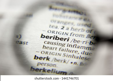 The word or phrase Beriberi in a dictionary