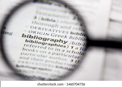 Word or phrase Bibliography in a dictionary