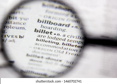 Word or phrase Billet in a dictionary