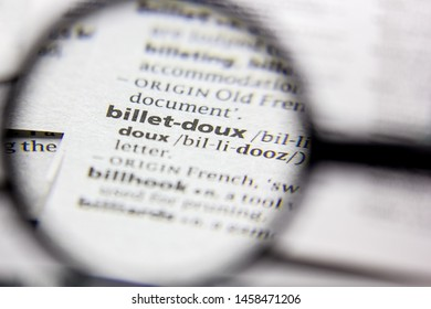 Word or phrase Billet-doux in a dictionary