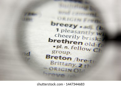 The word or phrase Brethren in a dictionary