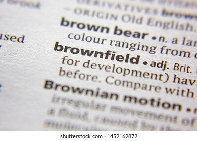 Word or phrase Brownfield in a dictionary