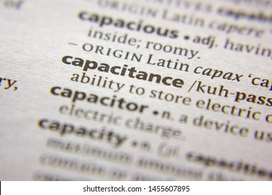 Word or phrase Capacitance in a dictionary