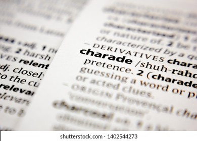 Word or phrase charade in a dictionary.