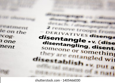 Word or phrase disentangle in a dictionary.