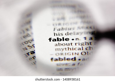 Word or phrase fable in a dictionary.