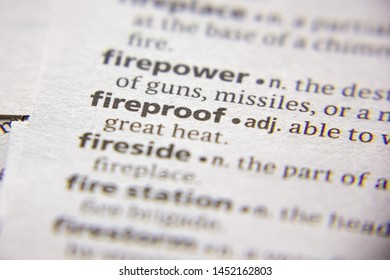Word or phrase Fireproof in a dictionary