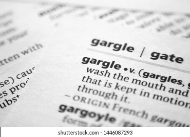 Word or phrase Gargle in a dictionary
