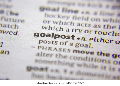 Word or phrase Goalpost in a dictionary