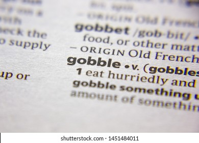 Word or phrase Gobble in a dictionary
