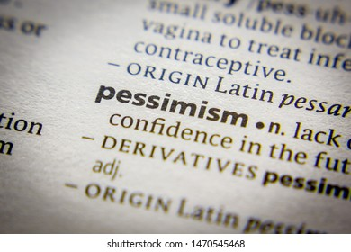 Word or phrase Pessimism in a dictionary