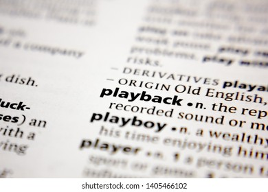 Word or phrase playback in a dictionary.