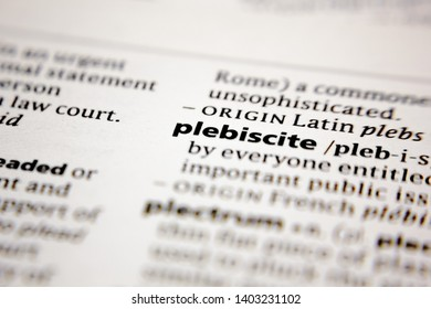 Word or phrase plebiscite in a dictionary.