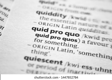 Word or phrase Quid pro quo in a dictionary