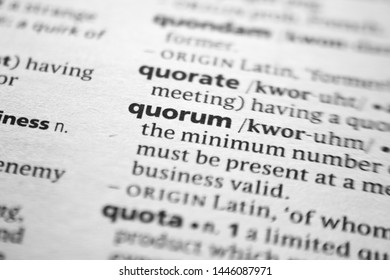 Word or phrase Quorum in a dictionary