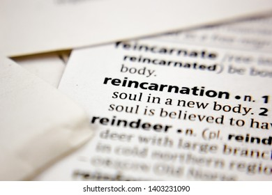 Word or phrase reincarnation in a dictionary.