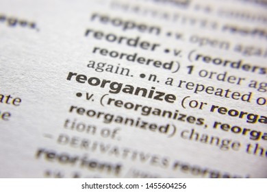 Word or phrase reorganize in a dictionary