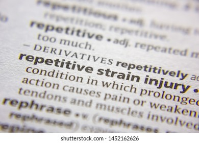Word or phrase Repetitive strain injury in a dictionary