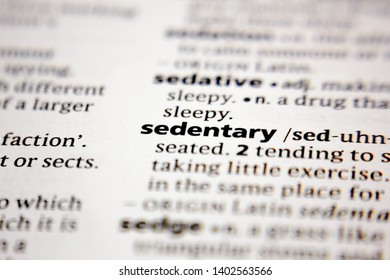 Word or phrase sedentary in a dictionary.